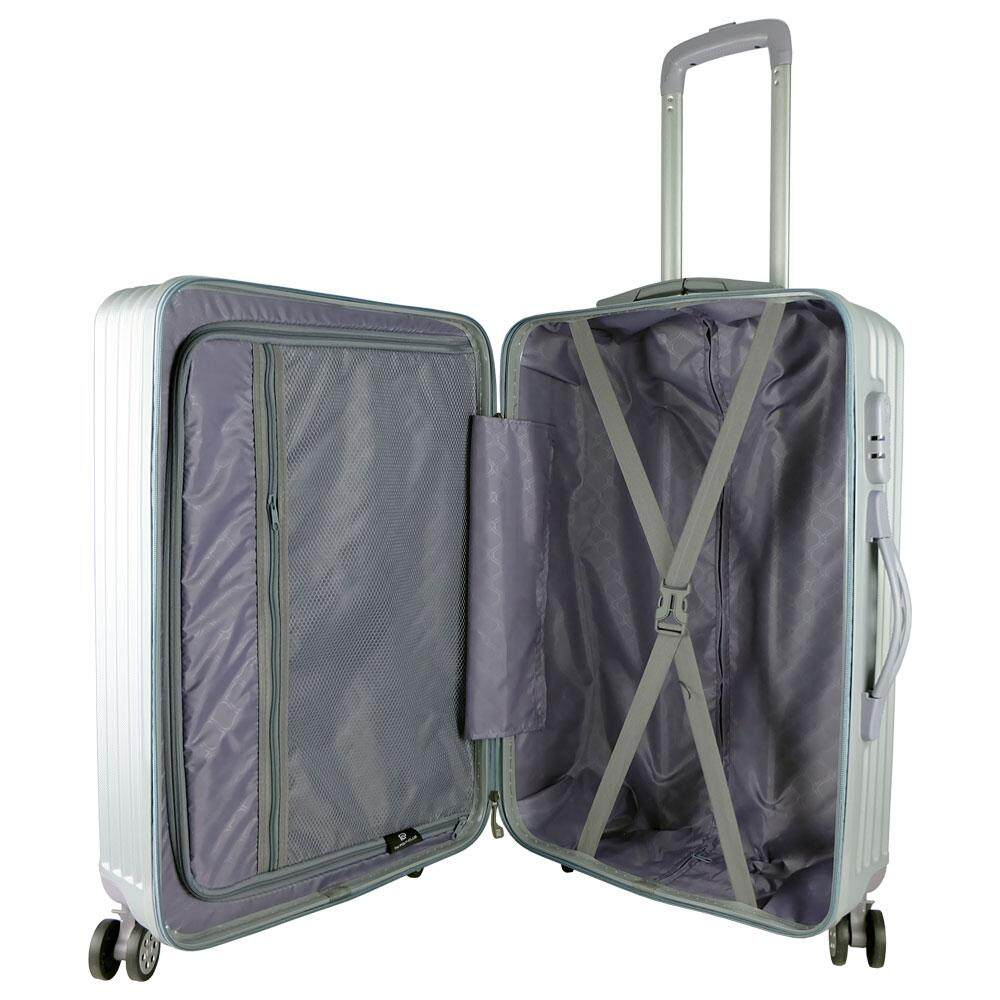 W.Polo WA1884 3-in-1 ABS Hardcase Luggage- Grey