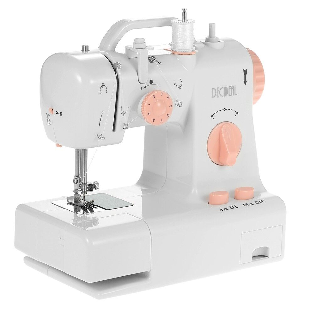 Electric Sewing Machine - Decdeal Multifunctional Electric Household Sewing Machine 2 Speed Adjustment wit - UK