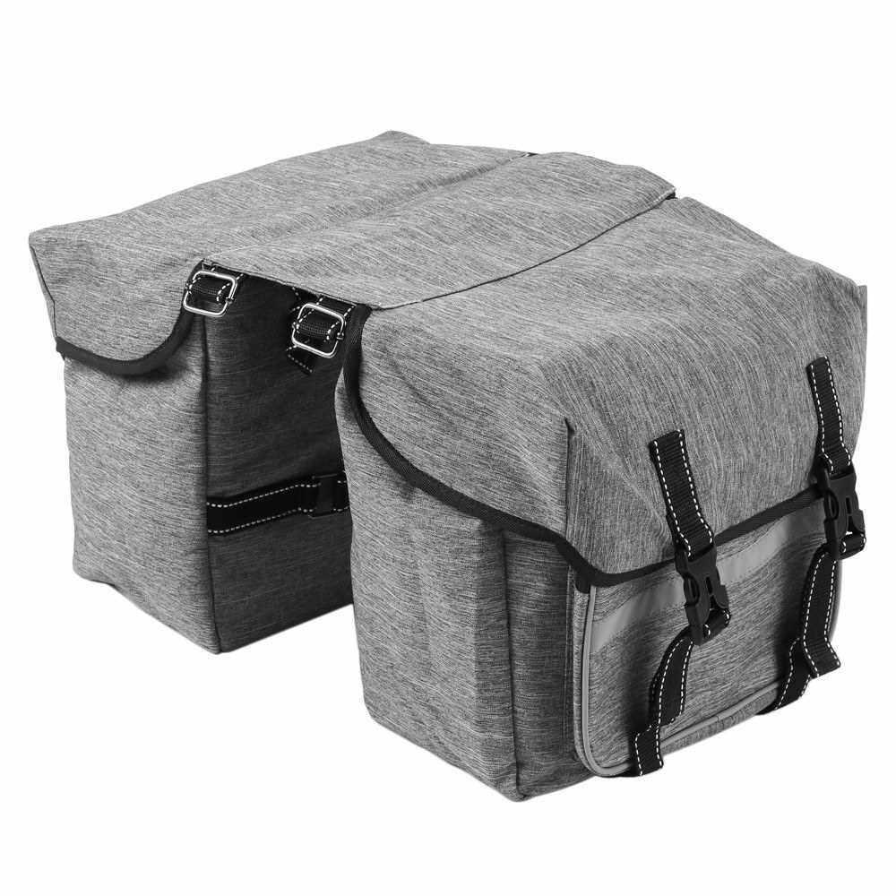 Bike Back Pannier Bicycle Rear Seat Bag Cycling Rack Grocery Pannier Road Bike Storage Bag (Grey)