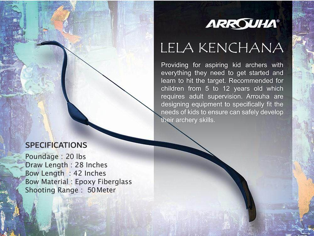 Arrouha Lela Kenchana Turkish Kids Bow and for Beginner To Start 20Lbs at 28Inches Smooth to draw