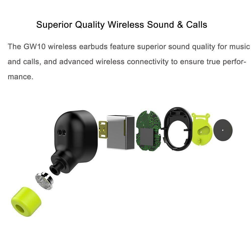 TWS MINI True WIRELESS BLUETOOTH Earbuds Twins In-Ear Stereo Head SET Earphones - GOLD / BLUE / BLACK
