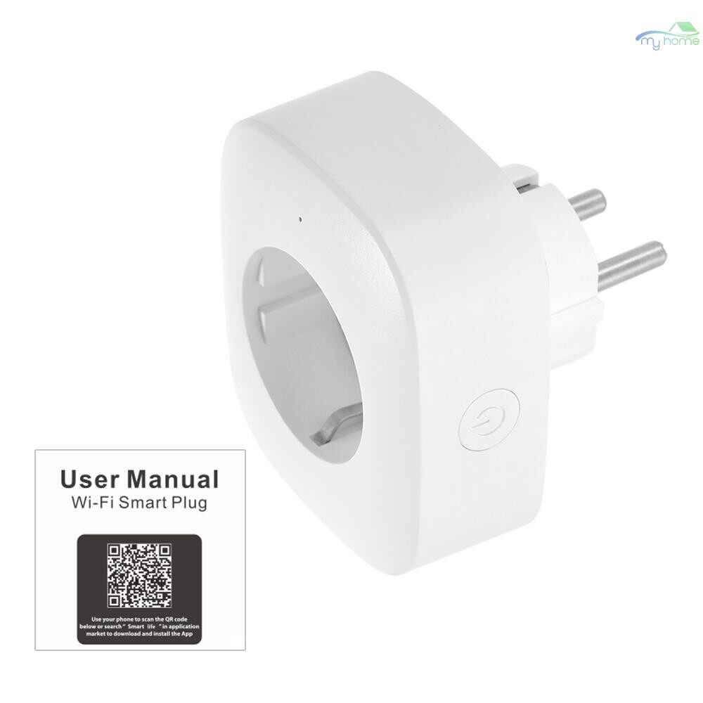 Plugs & Adapters - MINI Smart WiFi Socket EU Type F Remote Control by Smart Phone from Anywhere Timing Function, Voice - Home Improvement