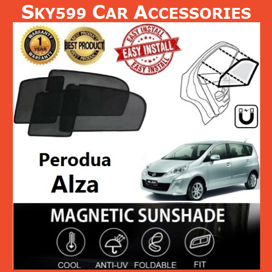 Perodua Alza Magnetic Sunshade ?6pcs?