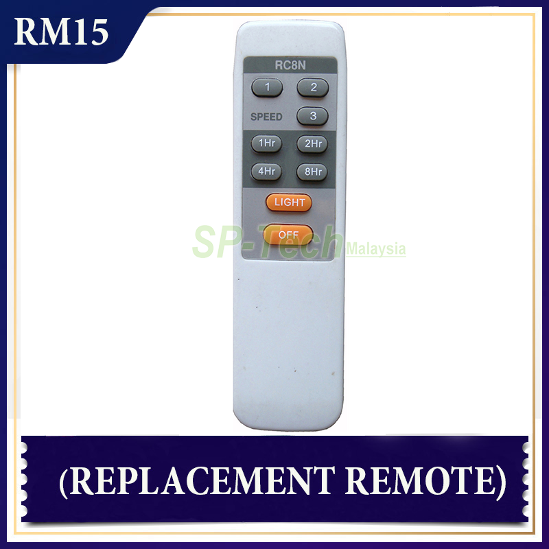 EUROUNO RC8N FAN REMOTE CONTROL (REPLACEMENT)