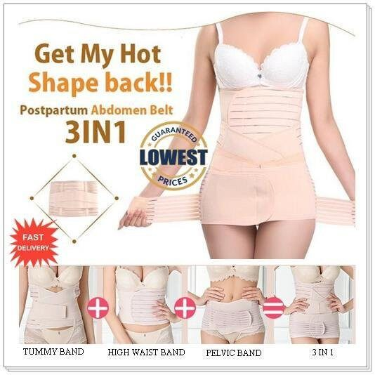 (READY STOCK) 3 IN 1 Postpartum Moden Bengkung Abdomen Slimming Belly Belt Tummy Control (LOCAL SELLER)