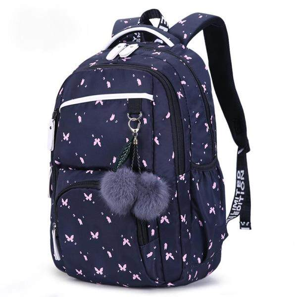 cute school bags for teenage girls korean style school backpack for girls fur ball decoration children bag girl gift