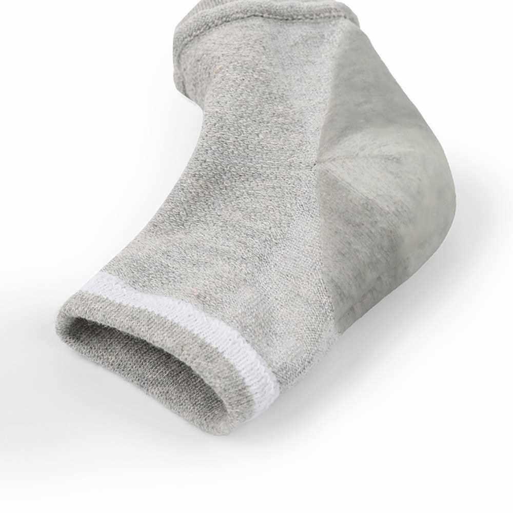 People's Choice 1 Pair Moisturizing Gel Heel Socks Open Toe Socks for Dry Hard Cracked Heels Foot Skin Care Protectors Pedicure Socks (Black)