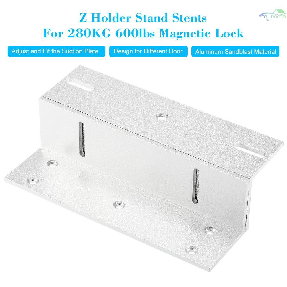 Chains & Locks - Z Holder Stand Stents For 280KG 600lbs Holding Force Magnetic Lock Door Aluminium Alloy Mounting - Home Improvement