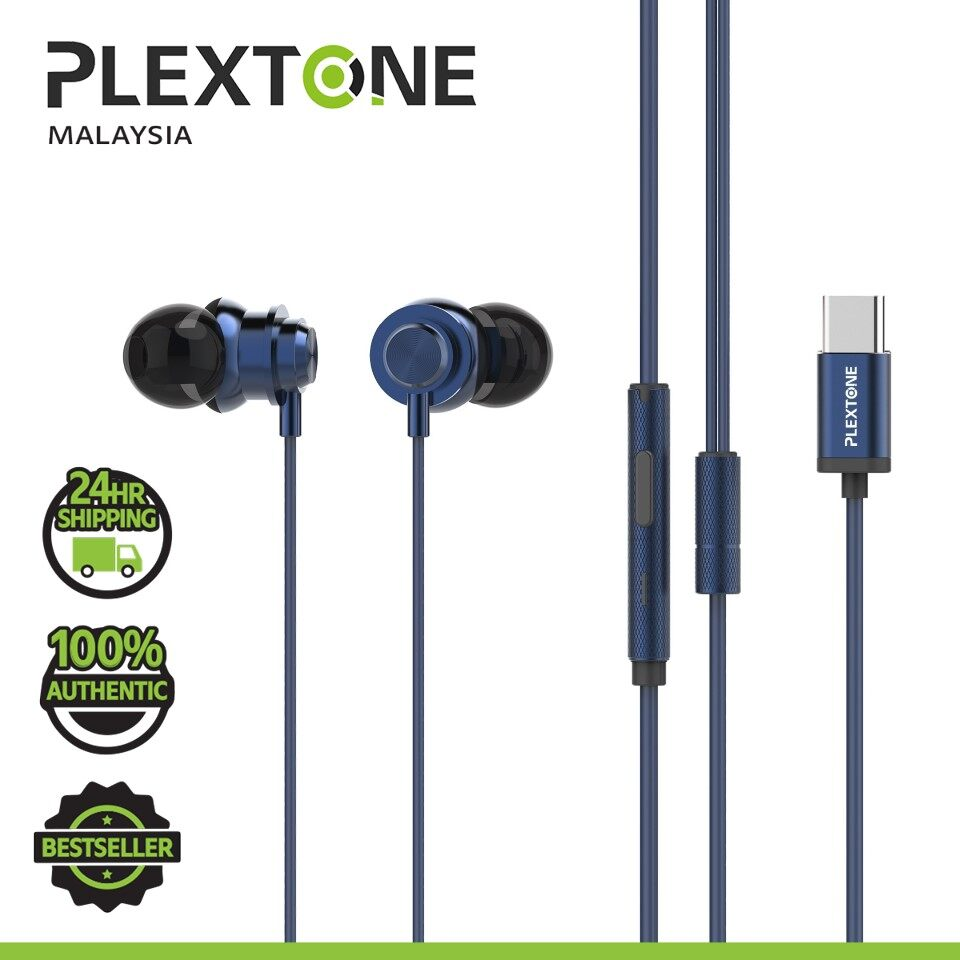 PLEXTONE X56M TYPE C Super Bass HD HI-Res Metal Earphones with remote control USB C in ear Headphones Sport earphone for SAMSUNG HUAWEI XIAOMI