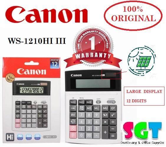 Canon Calculator WS-1210Hi III - 12-Digit Desktop Calculator
