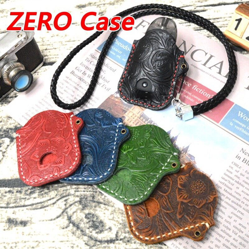 100% ORIGINAL Cowhide Leather Handmade ZERO Leather Case Personality Vintage Factory - BROWN / BLACK / RED / GREEN / BLUE