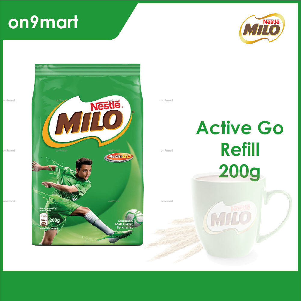 Nestle MILO Activ-Go Chocolate Malt Powder 200g