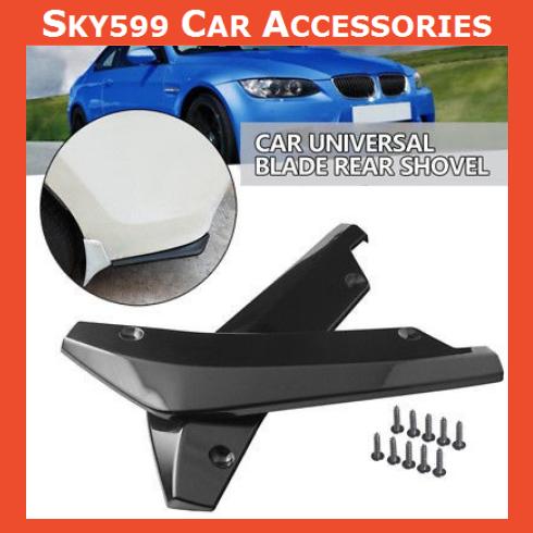 Black Car Rear Bumper Spoiler Canard Anti-crash Diffuser Angle Splitter ?2pcs ?