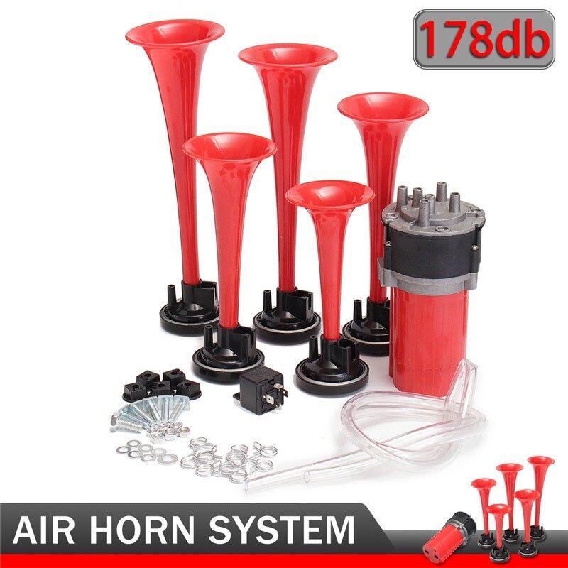 Cooling - 12V 175DB 5 DIXIE Hazzard Car Truck Ter Trumpet Air Horn Compressor - Car Replacement Parts