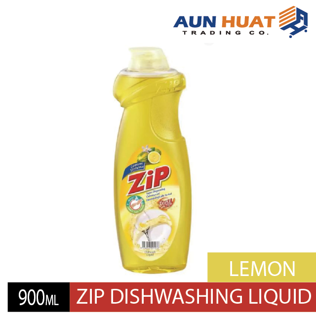 ZIP DISHWASHING LIQUID LEMON 900ML