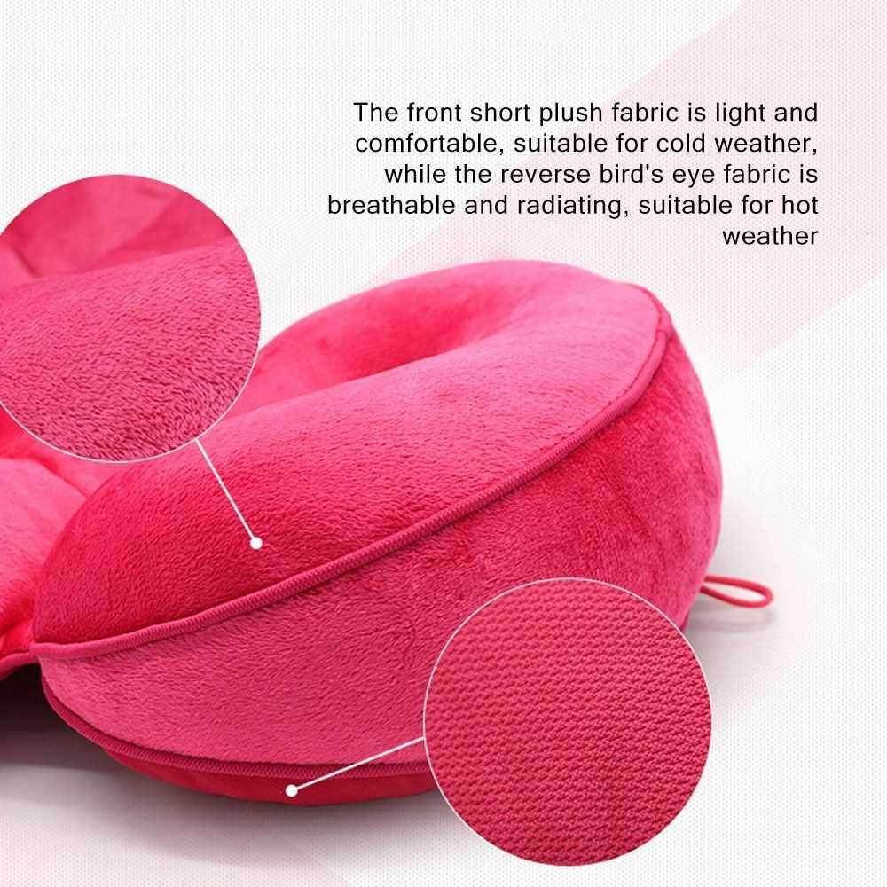 Multifunctional Dual Comfort Cushion Memory Foam Seat Cushions Car Seat Accessories V-shaped Dual Memory Foam Cushion Hip Lift Up Seat Cushion Beauty Butt Pad Mat Fitness Euipment (Rose Red)