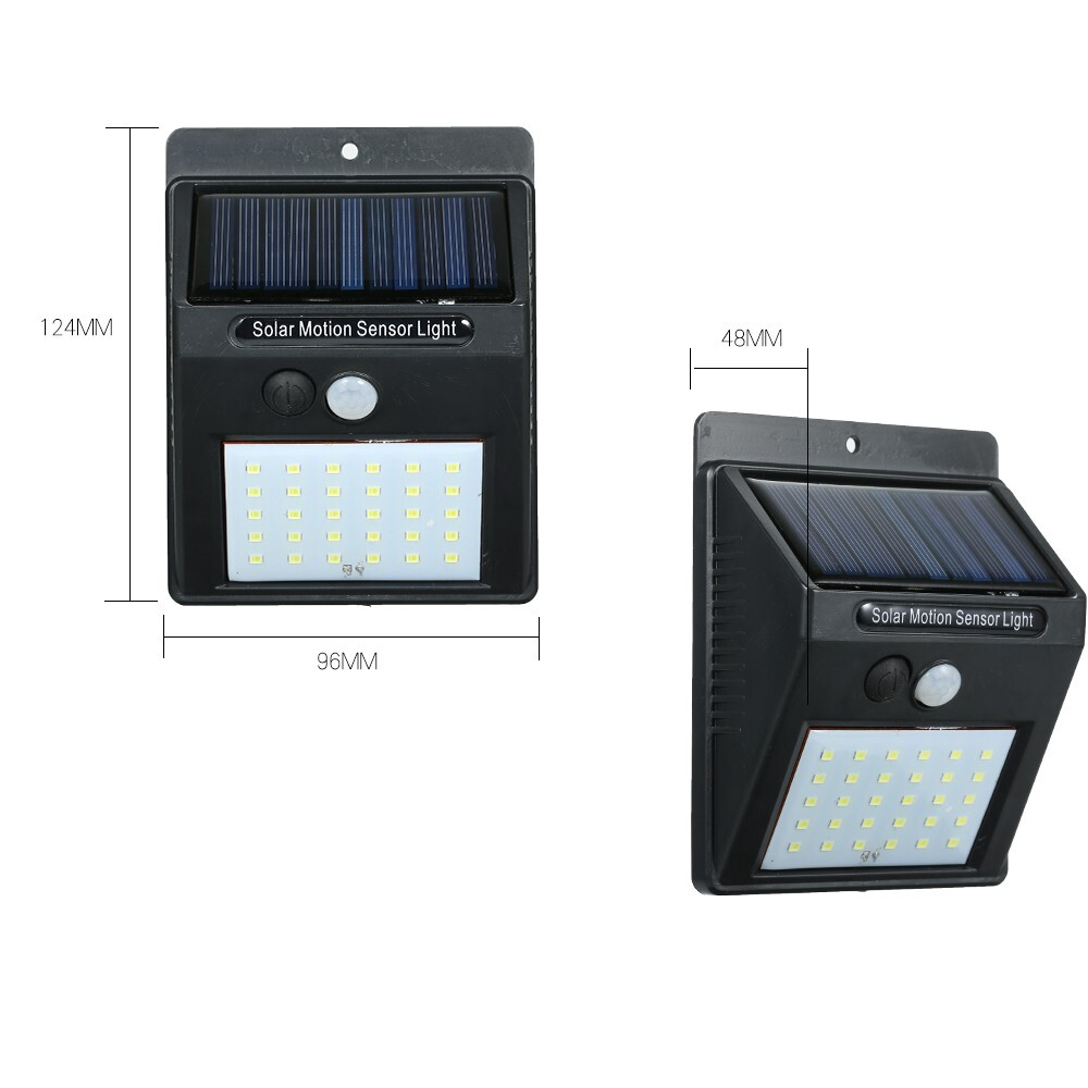 Outdoor Lighting - 30 LEDs Solar Power PIR Motion Sensor Wall Light Outdoor Garden