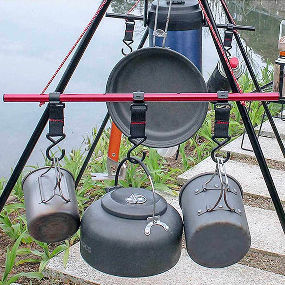 Outdoor Camping Moveable Storage Hook Detachable Hanging Hook S-Shaped Hook (S)
