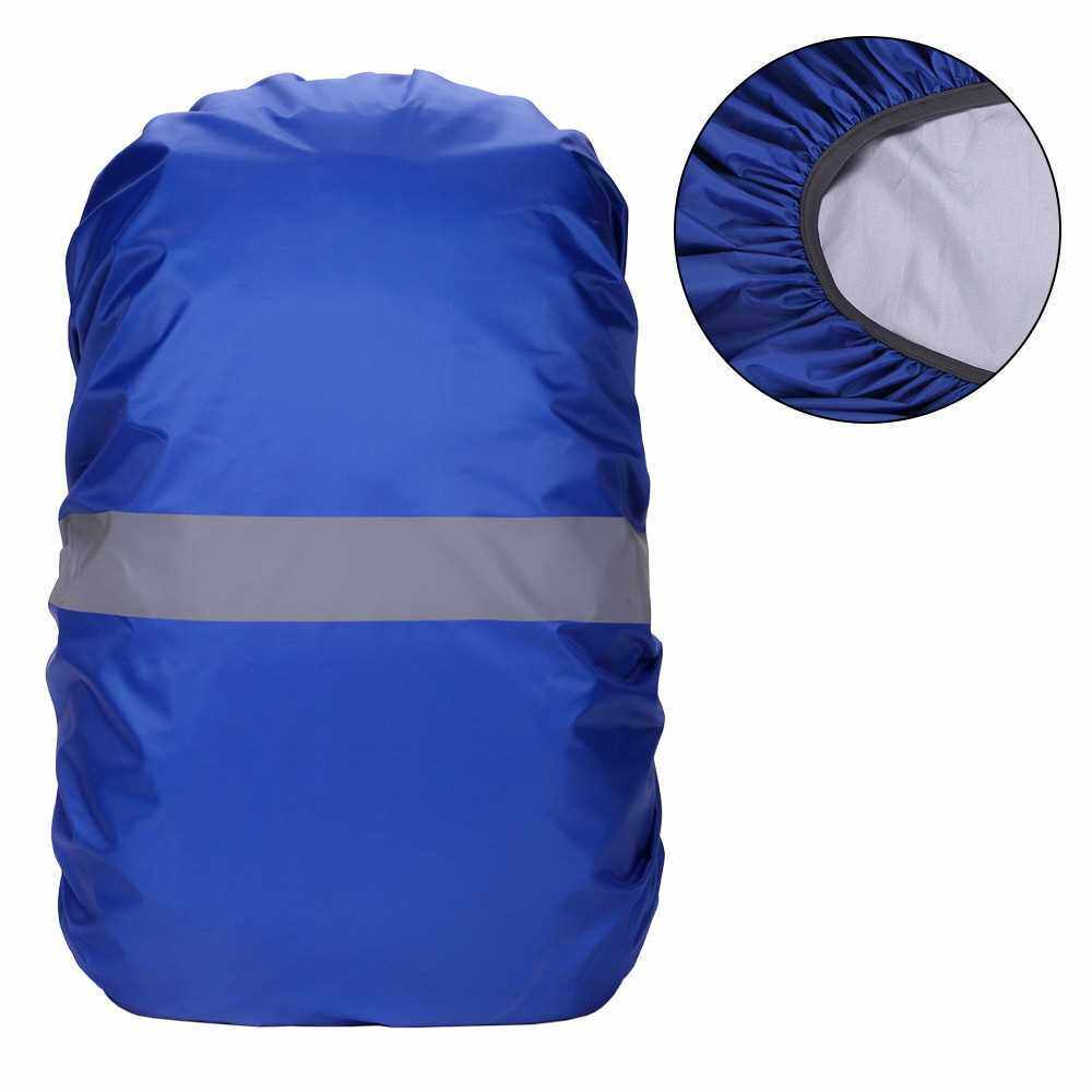 Backpack Cover with Reflective Strip Women Men Waterproof Bag Rain Cover For Cycling Camping Hiking Mountaineering (Blue)