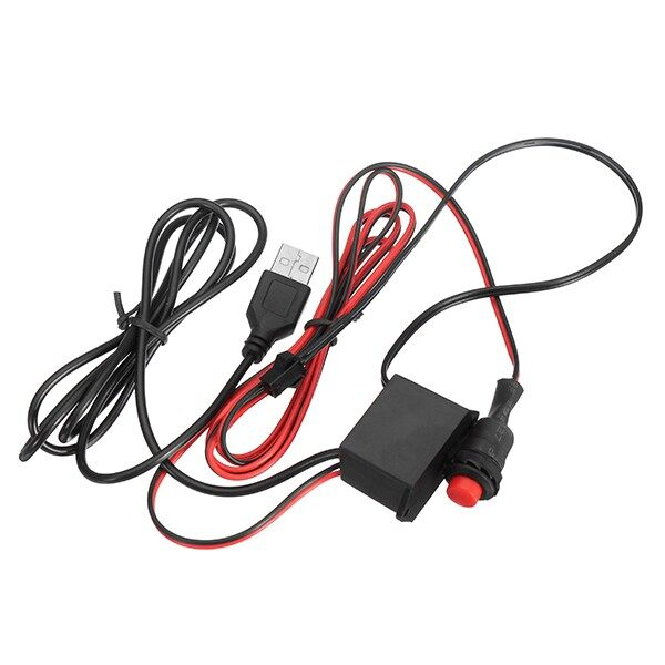 WIRELESS Chargers - Driver Controller with Button for LED Flexible Neon El Wire Glow Strip Light - Cables