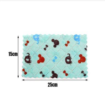 New Home Kitchen Cleaning Tools Dishcloth Superfine Fiber Multifunction Cartoon Printed Double-sided Rag Scouring Pad Degrease