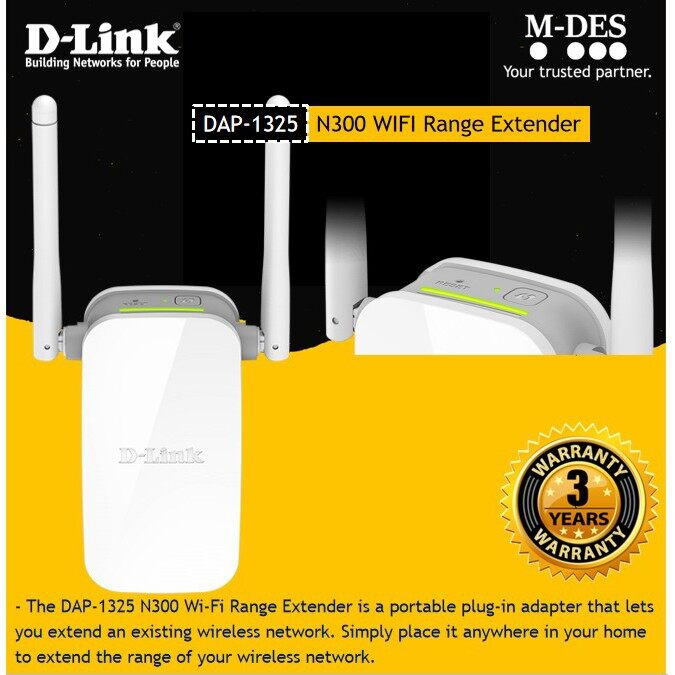 D-LINK DAP-1325 Wireless N WiFi Extender Wireless Repeater with AP Function - DLINK 1320 850RE 855RE 860RE 4.6