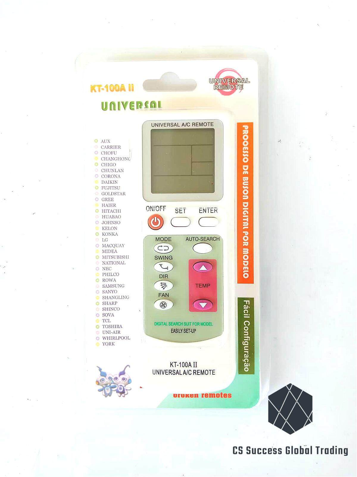 KT-100A II UNIVERSAL A/C REMOTE CONTROL (Ready Stock)