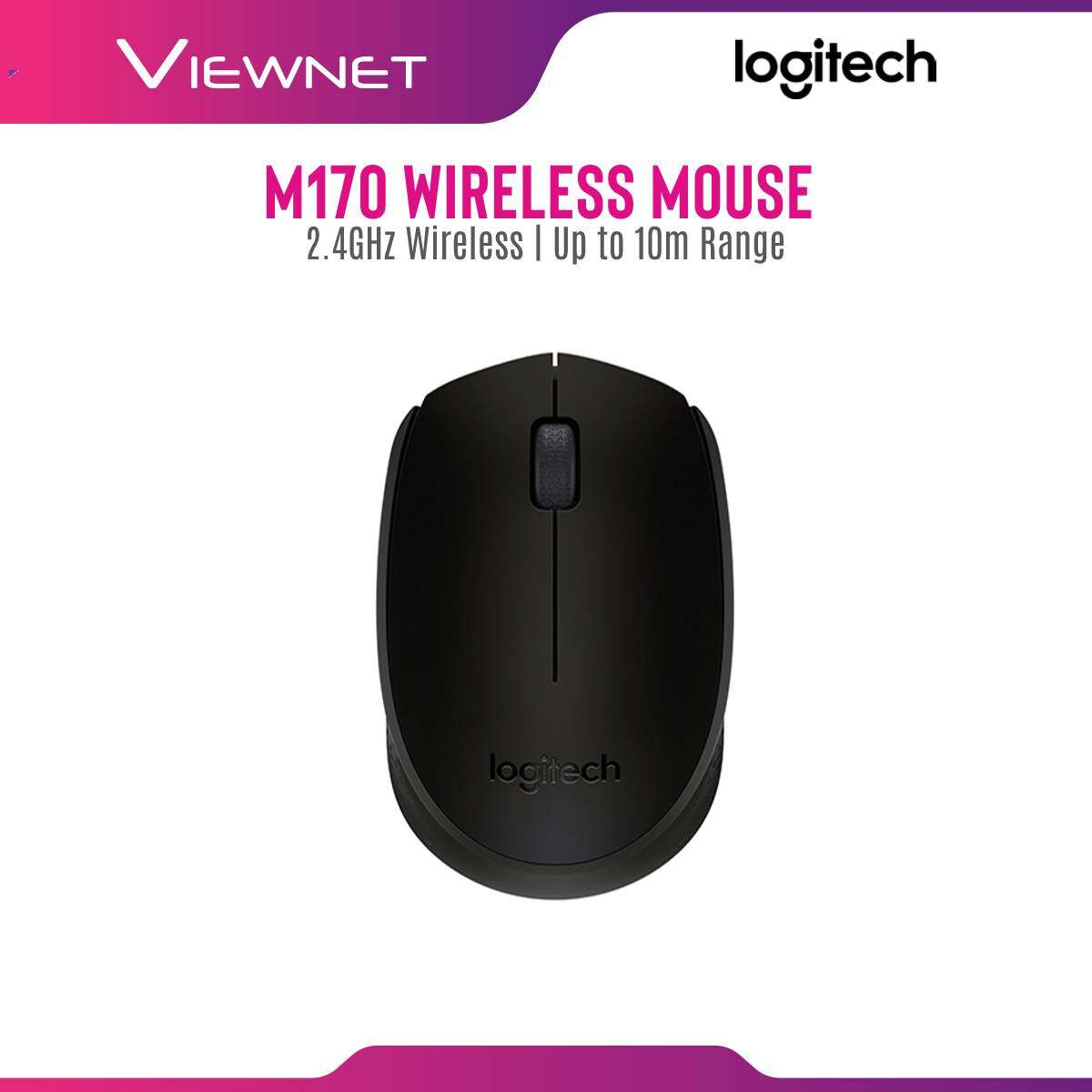Logitech M170 Wireless Mouse with Red Laser, 2.4GHz Wireless Connection, 12-Month Battery Life, Up To 10M Range, Plug and Play Wireless Receiver
