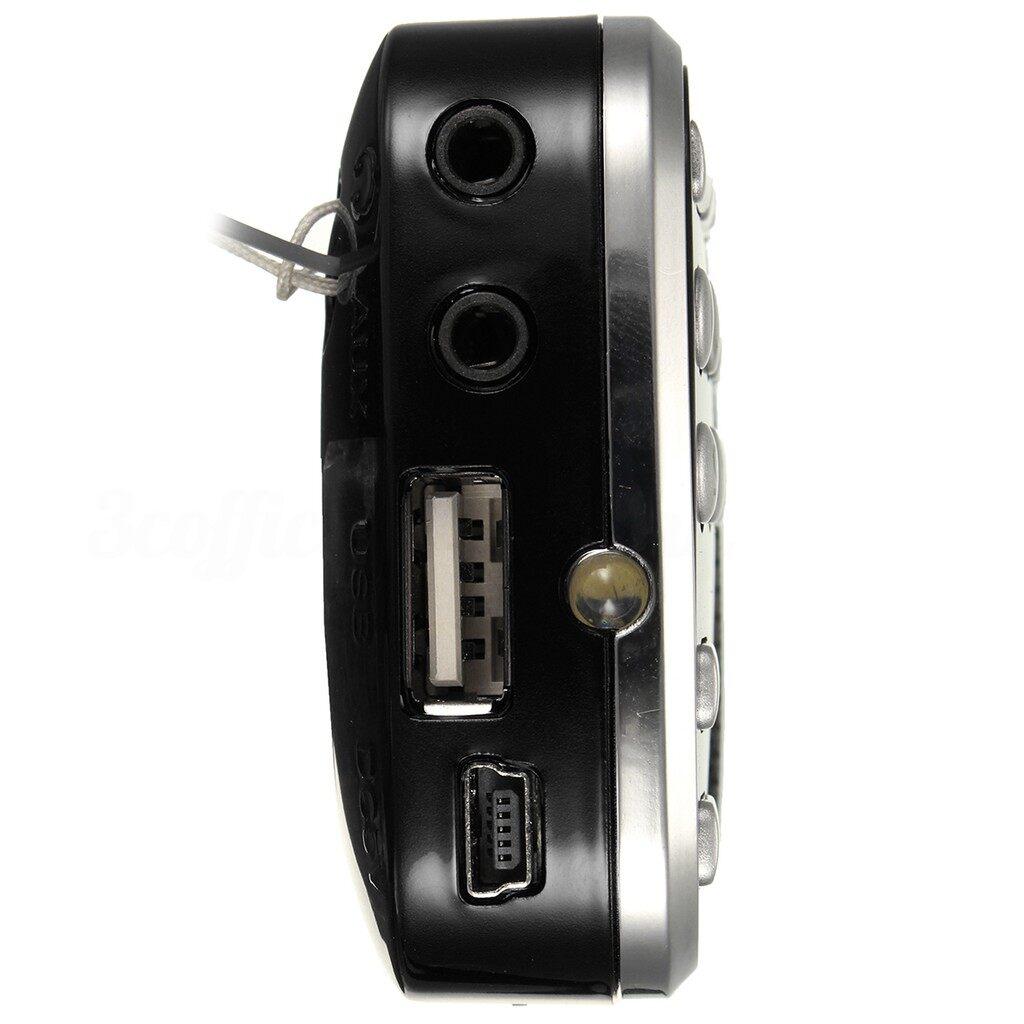Radios - LCD Digital Auto MINI FM Radio Speaker USB Micro SD 16GB Mp3 Music Player_3C - RED / DARKBLUE / BLACK