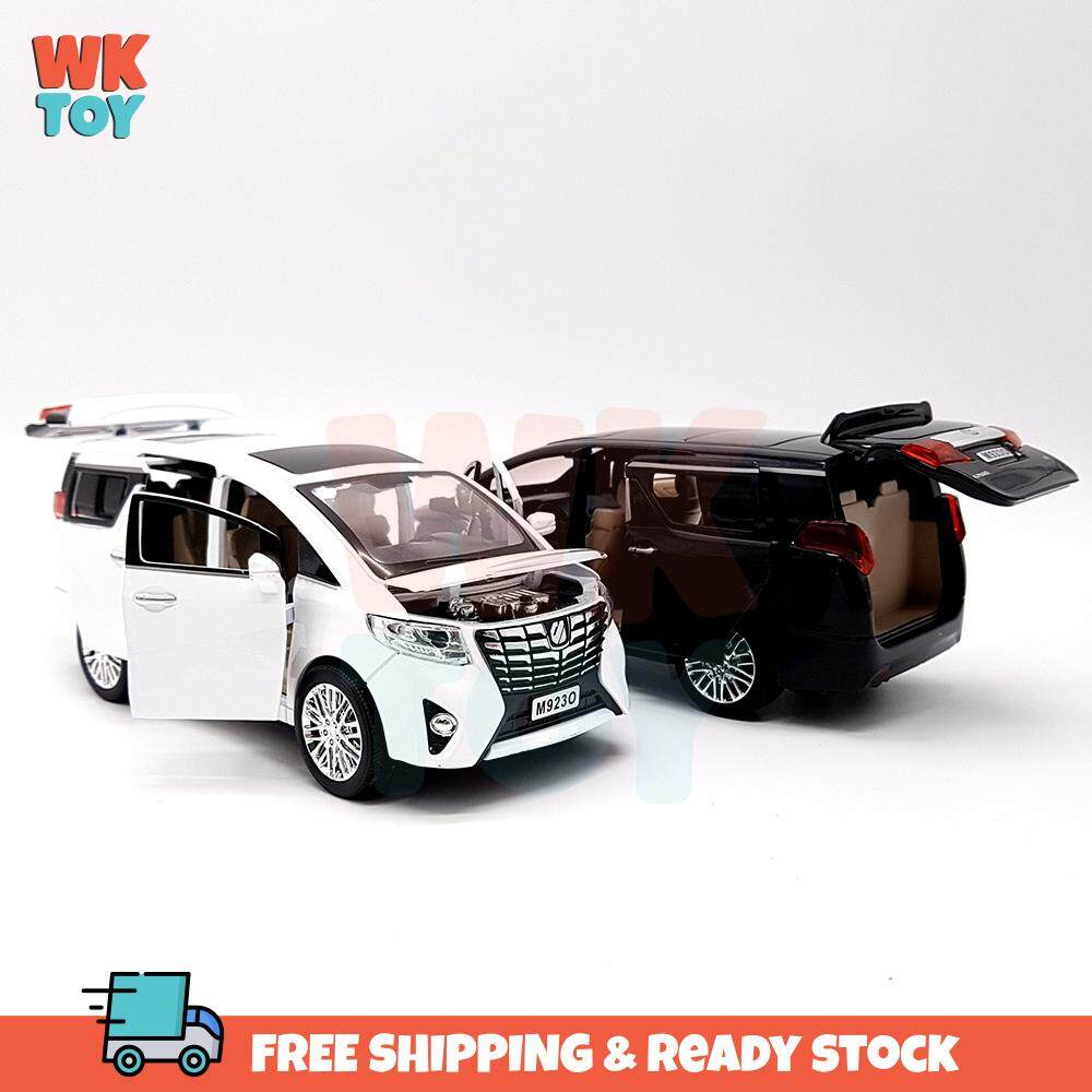 WKTOY XLG Toyota Alphard High Simulation 1:24 Die Cast Alloy Model with Light & Sound and Pull Back Power