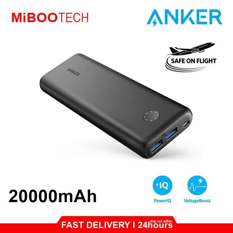 [Miboo] Anker Powerbank PowerCore Select 10000mAh & 20000mAh Dual USB PowerIQ 2.0 Original Power Bank Huawei Apple Samsung-20000mAh - Dual USB
