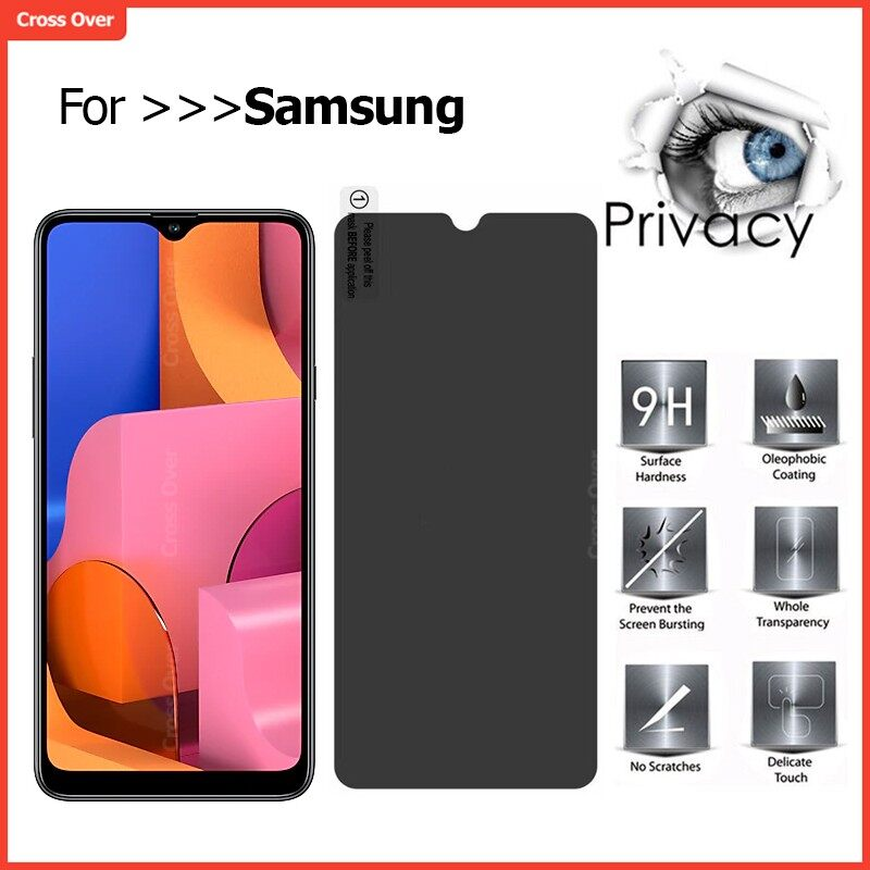 Samsung A80 A70 A50 A30 A20 A10 A10s A20s A30s A50s A01 A11 A21s A51 A71 Privacy Tempered Glass Screen Protector Anti-Spy