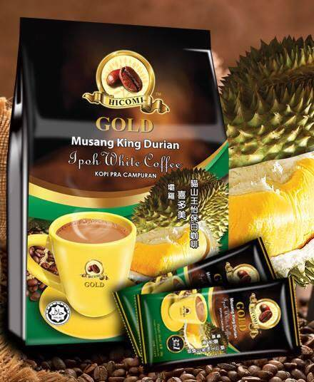 HICOMI Musang King Durian 4in1 Ipoh Instant White Coffee (38g X 15)