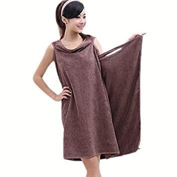 (LOCAL SELLER) Women Magic Towel Wearable Microfiber Shower Bath Robe Dress Tuala Mandi