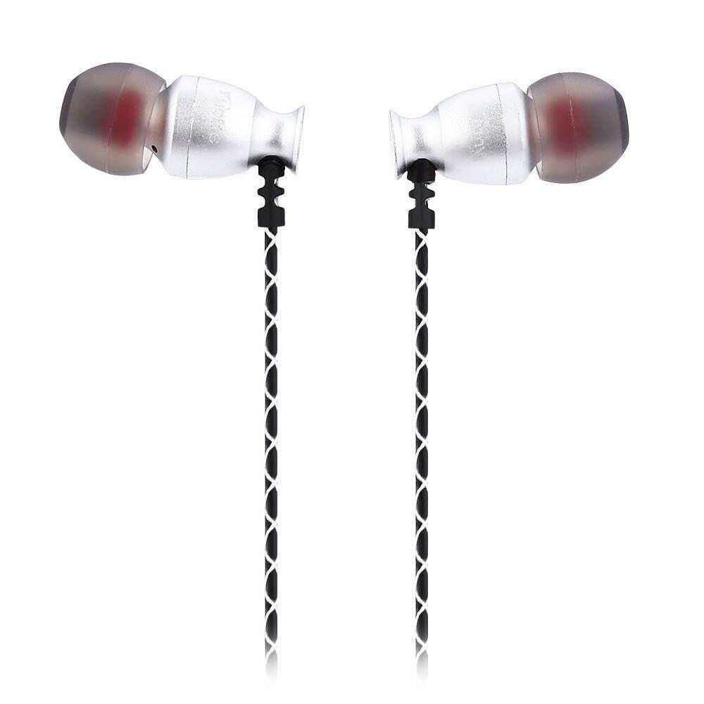 T - 006J 3.5MM HIFI IN-EAR EARPHONES MUSIC HEADPHONES (SILVER)