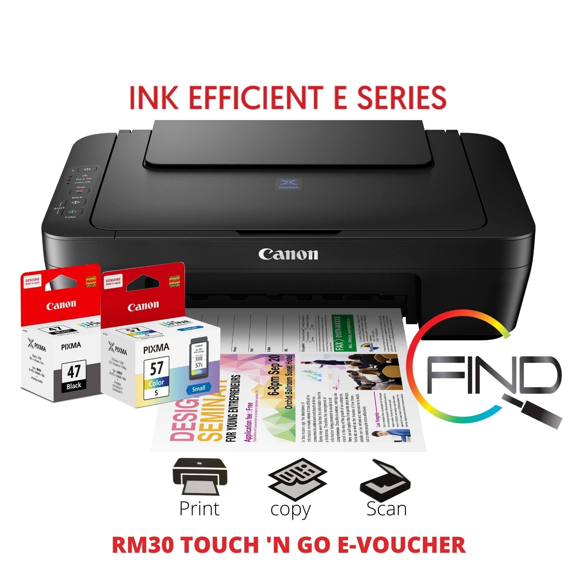 CANON PIXMA E410 AIO Ink Effeccient Printer - Print, Scan, Copy (FINDC)