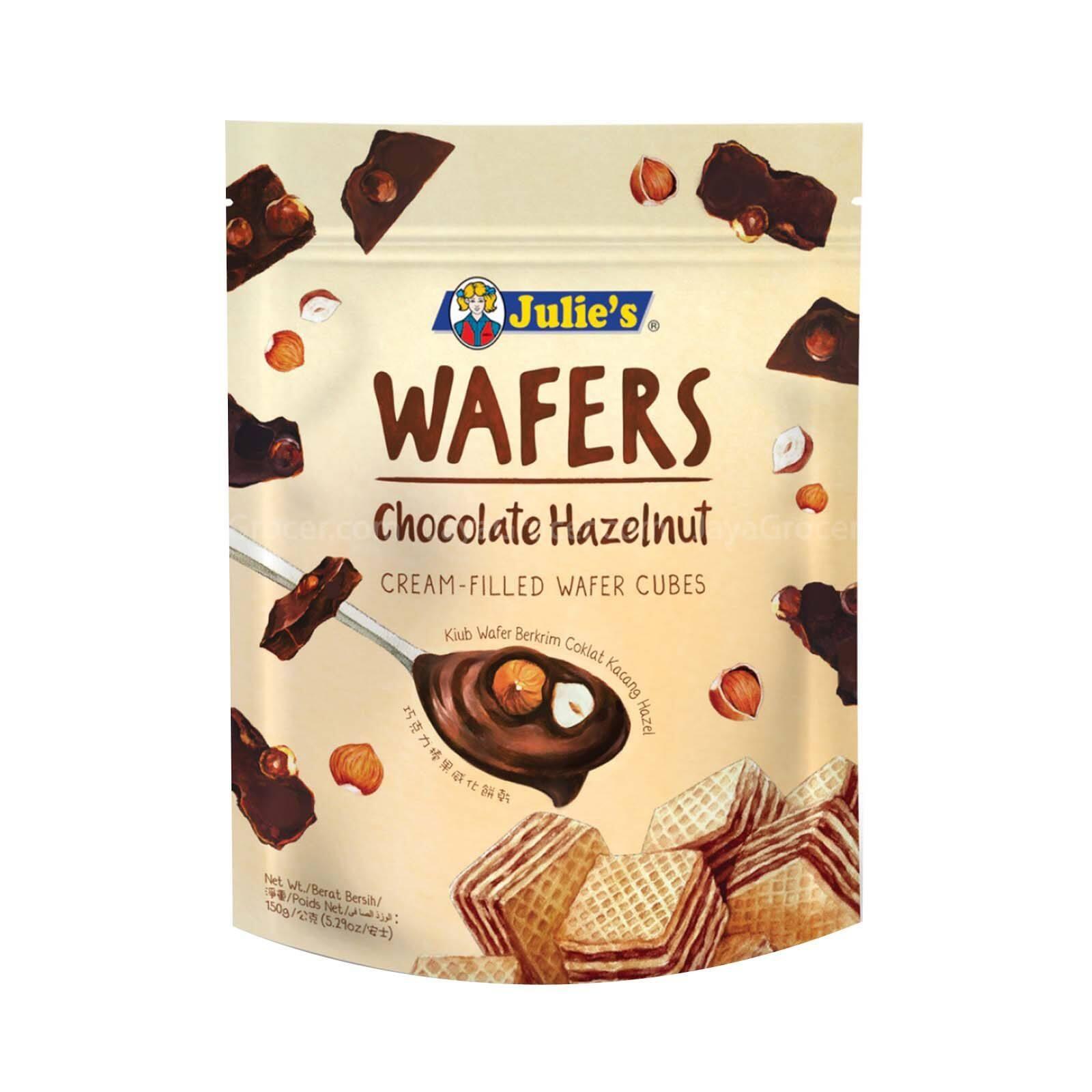 JULIE'S WAFERS CHOCOLATE HAZELNUT 150G