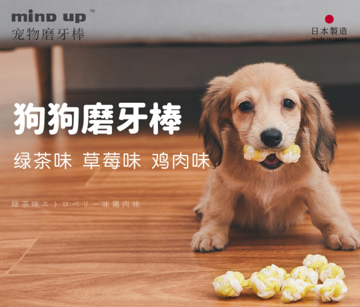 Mind Up / Kenko【麦恩达普】Dog Care Dental Gum / Dental Stick 宠物狗磨牙棒 (Peanuts & Chicken Flavour) 花生鸡肉口味 7pcs