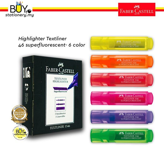 Faber Castell Textliner Highlighter 1546 ( 1x10 / 1 box)
