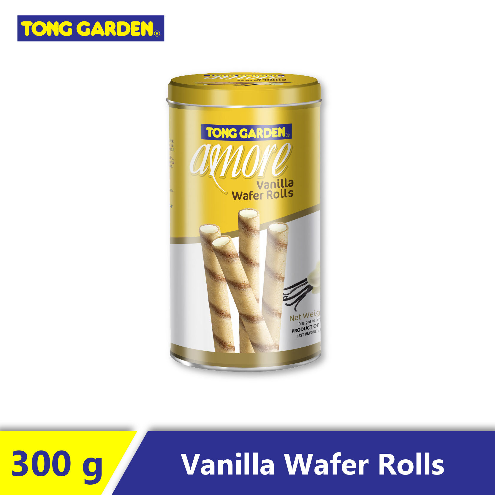 AMORE Vanilla Wafer Roll 300g x 12 [Carton]