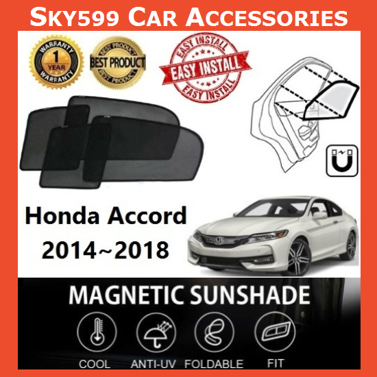 Honda Accord 2014-2020 Magnetic Sunshade ?4pcs?