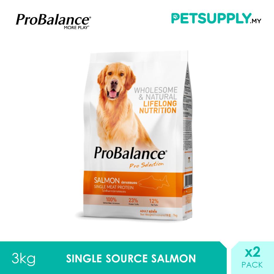 ProBalance 3KG Salmon Single Source Adult Dry Dog Food X 2 Packs [PETSUPPLY.MY]
