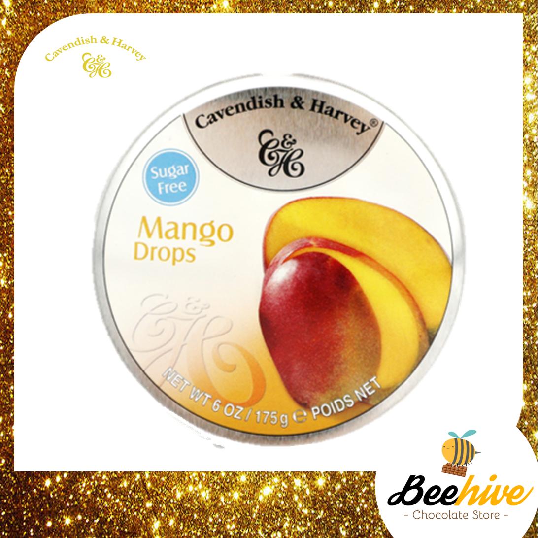 Cavendish & Harvey Sugar Free Mango Drops Candy 175g