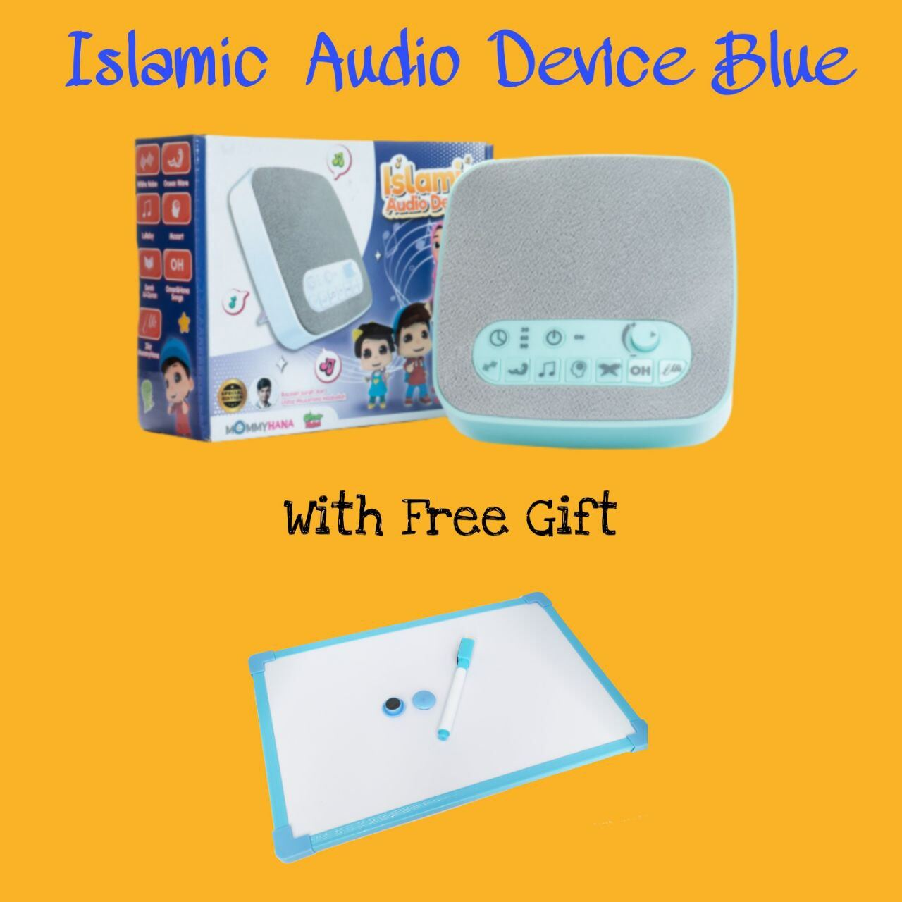 (READY STOCK) ISLAMIC AUDIO DEVICE MOMMYHANA X OMAR HANA (BLUE) (6)