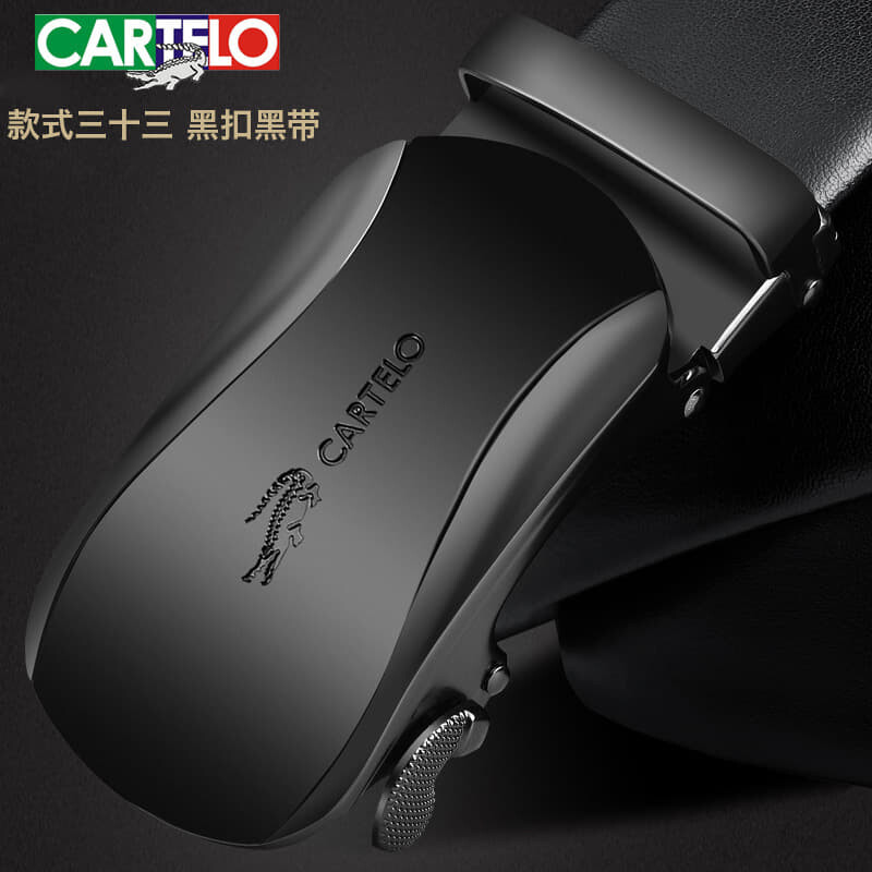 [Ready Stock] Cartelo Since 1947 Singapore Men's 100% Genuine Full leather automatic Buckle Belt Perfect Gift (Come With Box) Luxury Classy European Style Leather Belt Formal Wear Jeans Casual Wear Belt Long Lasting Tali Pinggan Lelaki Kulit Halal