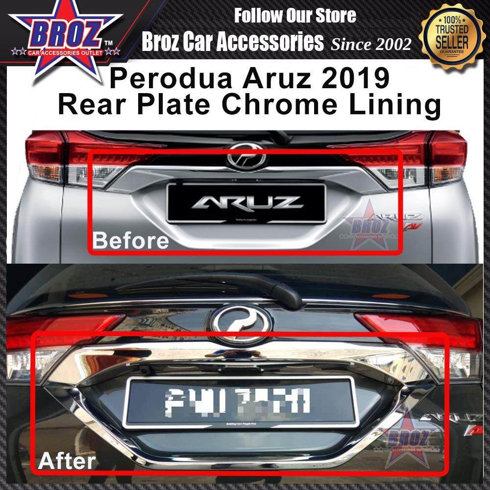 Aruz 2019 Number Plate ABS Chrome Number Plate Frame Protect