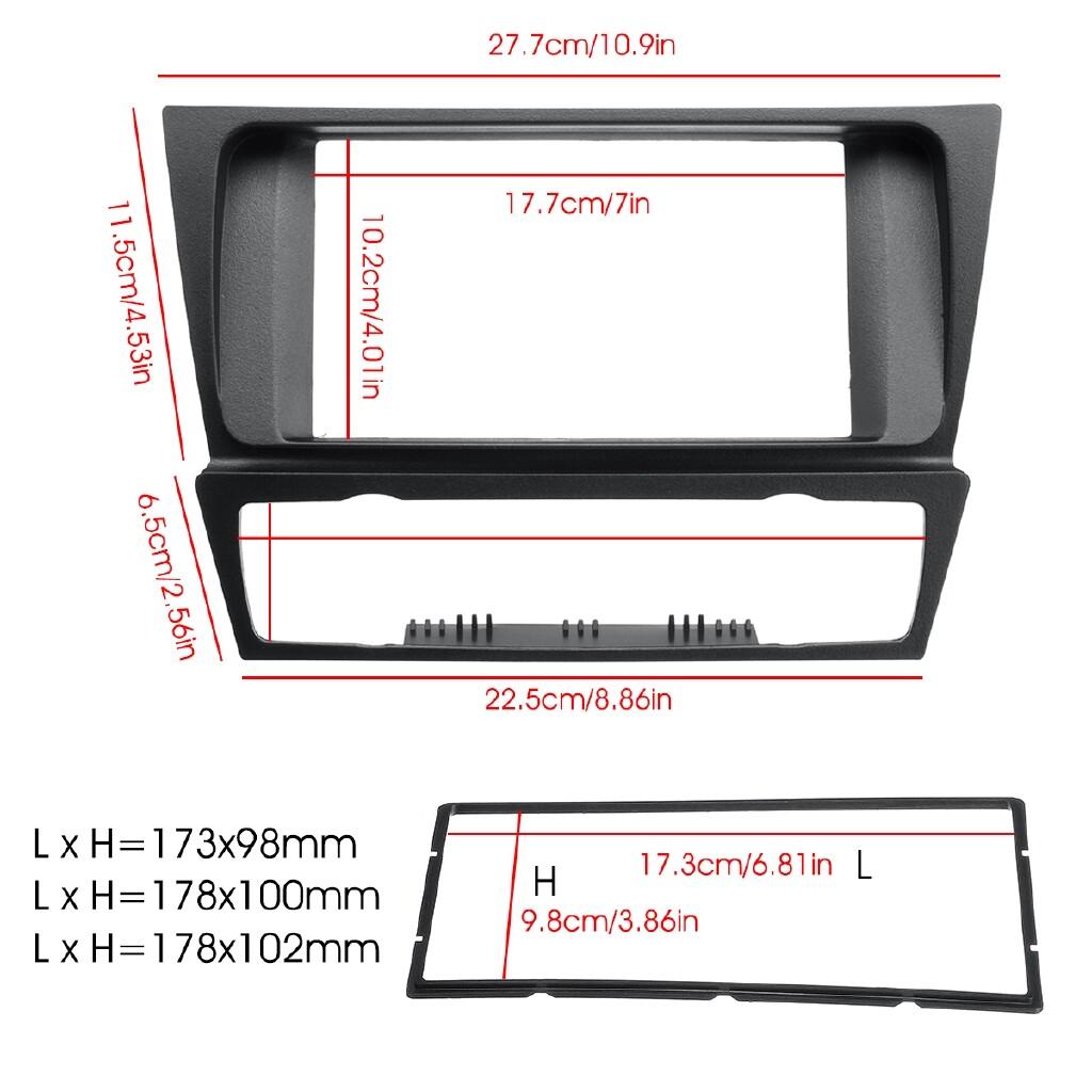 Car Stickers - Double Din Car Radio Stereo Surround Fascia Panel For BMW 3 Serie E90 91 E92 E93 - Accessories