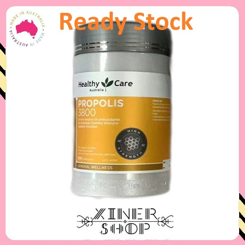 [Ready Stock EXP Date: 01/2023] Healthy Care Ultra Premium Propolis 3800mg ( 200 Capsules )( Made In Australia )