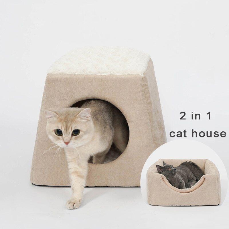 Hang Động Cho Mèo Có Thể Gấp Gọn Nhà Ấm Áp Cũi Giường Cho Thú Cưng Mèo Sofa Thảm Chó Cho Mèo Con Nhỏ Cửa Sổ Tổ Sản Phẩm Trong Nhà