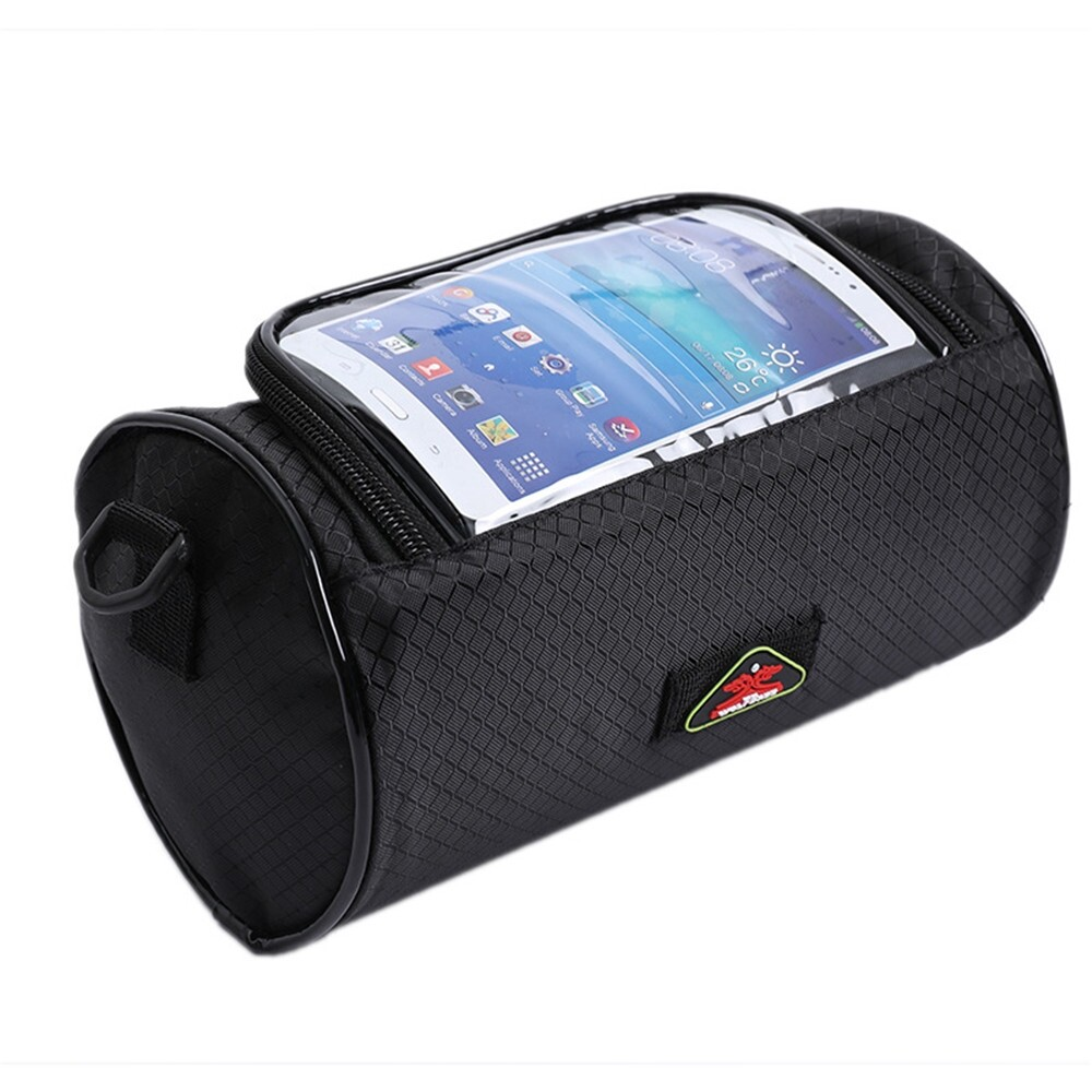 Moto Accessories - Motorcycle Bicycle Waterproof Touchscreen Front Phone Bag Luggage Tube Panniers - BLACK( ) / DARK BLUE( )